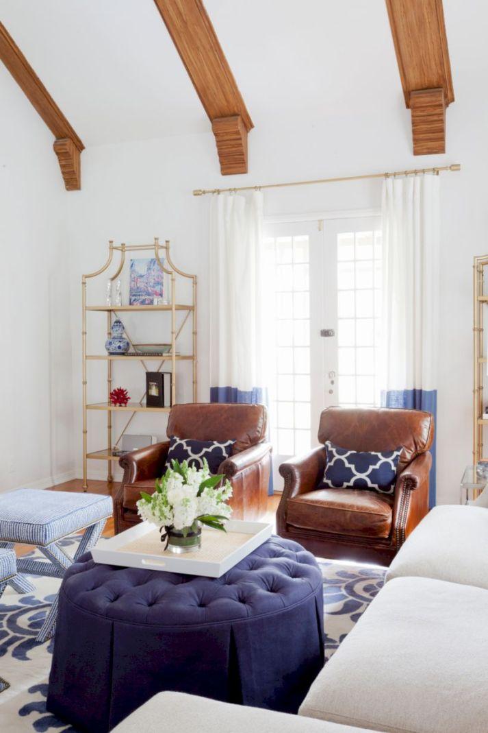 Modern leather living room furniture ideas (21)