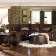 Modern leather living room furniture ideas (26)