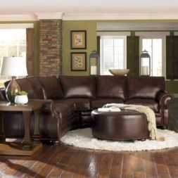 Modern leather living room furniture ideas (26)