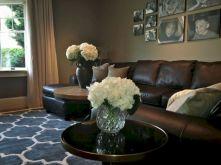 Modern leather living room furniture ideas (28)