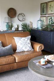 Modern leather living room furniture ideas (30)