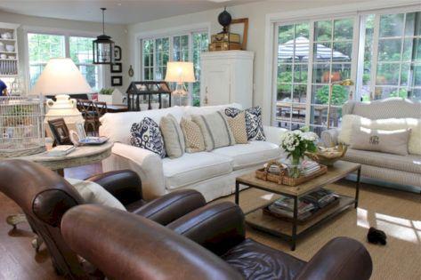 Modern leather living room furniture ideas (51)