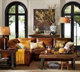 Modern leather living room furniture ideas (53)