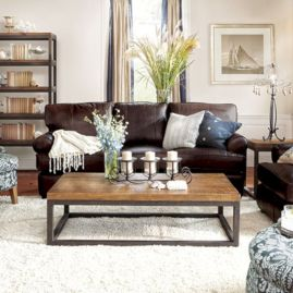Modern leather living room furniture ideas (61)