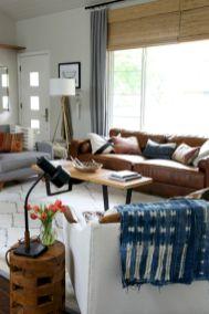 Modern leather living room furniture ideas (63)