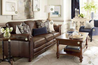 Modern leather living room furniture ideas (68)