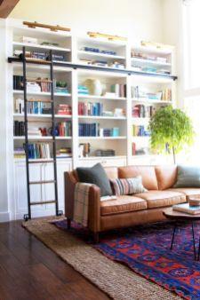 Modern leather living room furniture ideas (7)