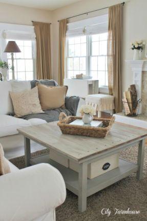 rustic living room curtains design ideas 39