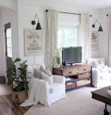 rustic living room curtains design ideas 55
