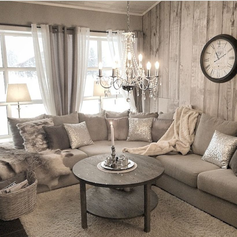 62 Rustic Living Room Curtains Design Ideas - ROUNDECOR