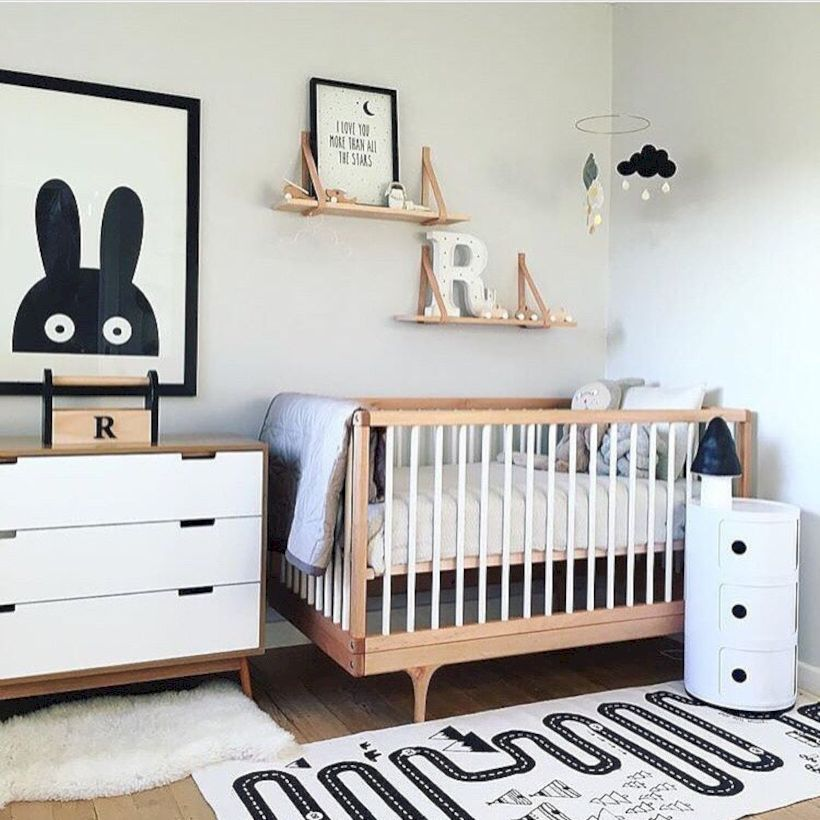 Simple baby boy nursery room design ideas (6)