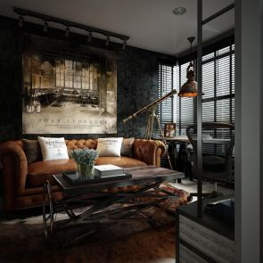 Small modern industrial apartment decoration ideas 01