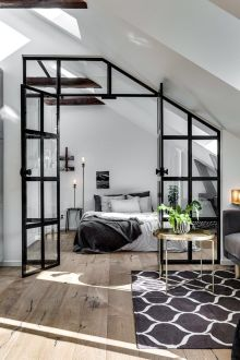 Small modern industrial apartment decoration ideas 10