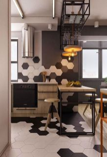 Small modern industrial apartment decoration ideas 48