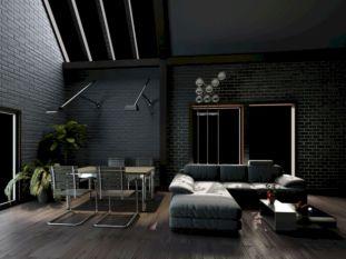 Stylish dark wood floor ideas for your living room (1)