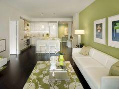 Stylish dark wood floor ideas for your living room (12)