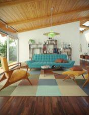 Stylish dark wood floor ideas for your living room (37)