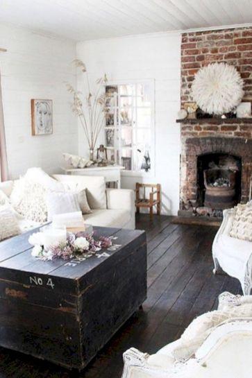 Stylish dark wood floor ideas for your living room (40)