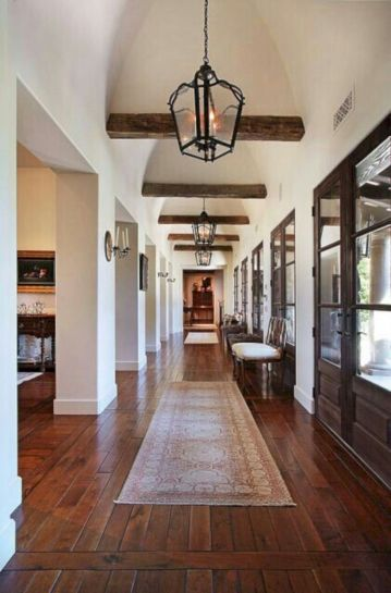 Stylish dark wood floor ideas for your living room (41)