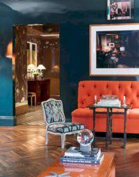 Stylish dark wood floor ideas for your living room (47)