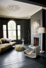 Stylish dark wood floor ideas for your living room (49)