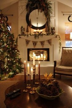 Adorable christmas living room décoration ideas 13 13