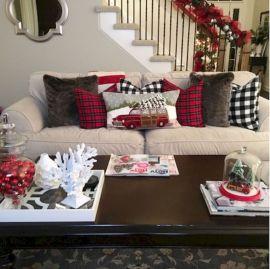 Adorable christmas living room décoration ideas 26 26