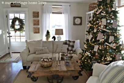 Adorable christmas living room décoration ideas 46 46