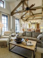 Adorable country living room design ideas 23