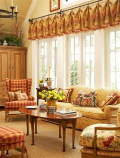 Adorable country living room design ideas 24