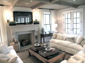 Adorable country living room design ideas 35