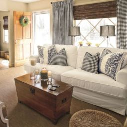 Adorable country living room design ideas 40