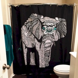 Affordable shower curtains ideas for small apartments 09
