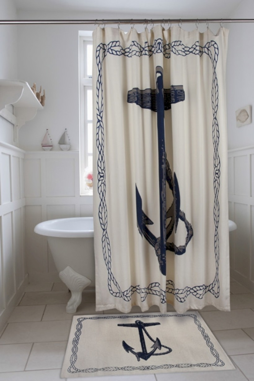 Affordable shower curtains ideas for small apartments 12