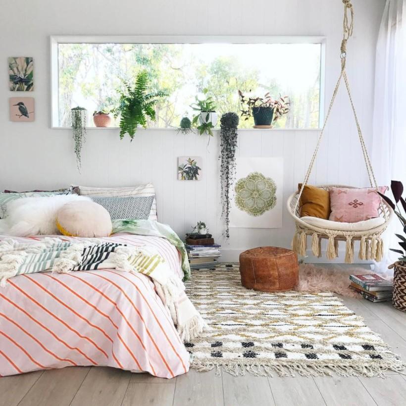55 Amazing Bohemian Bedroom Decor Ideas Round