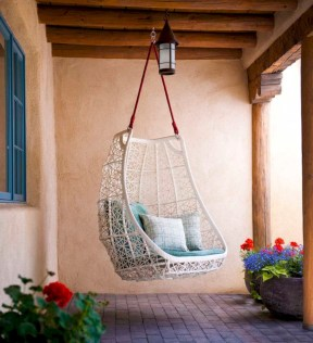 Beautiful bedrooms design ideas with swing chairs 15