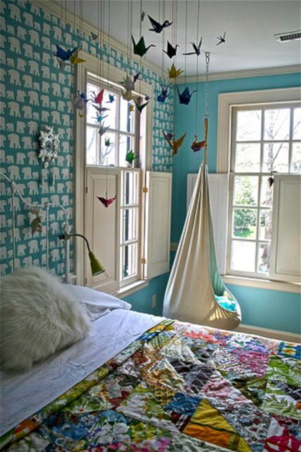 Beautiful bedrooms design ideas with swing chairs 25