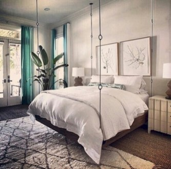 Beautiful bedrooms design ideas with swing chairs 34