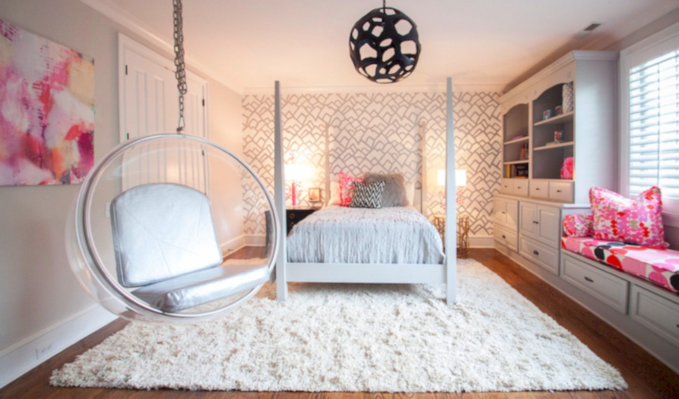 60 Beautiful Bedrooms Design Ideas With Swing Chairs Round Decor
