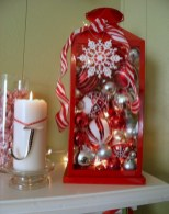 Beautiful christmas decoration ideas in red domination 46