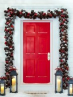 Beautiful christmas decoration ideas in red domination 48
