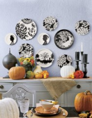 Beautiful ideas for elegant black and white halloween 37