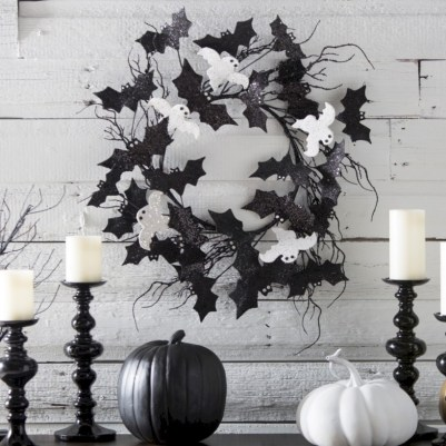 Beautiful ideas for elegant black and white halloween 47