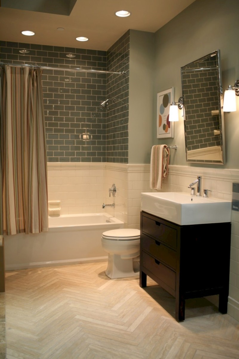 Beautiful subway tile bathroom remodel and renovation (16)