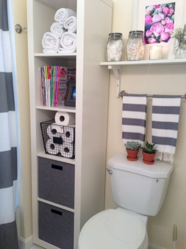 Cool organizing storage bathroom ideas (17)