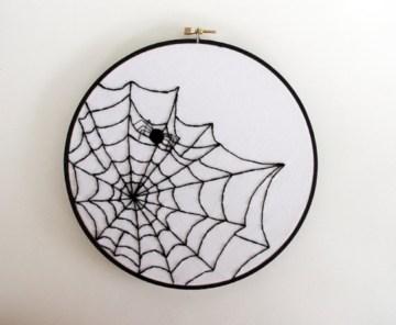 Creative diy halloween decorations using spider web 26