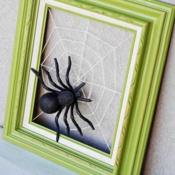 Creative diy halloween decorations using spider web 33