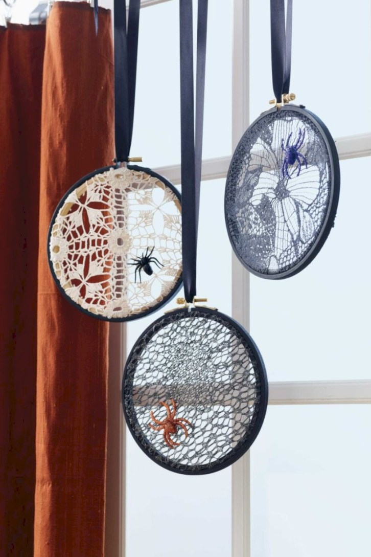 Creative diy halloween decorations using spider web 52