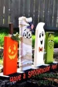Creative diy halloween outdoor decoration ideas 42