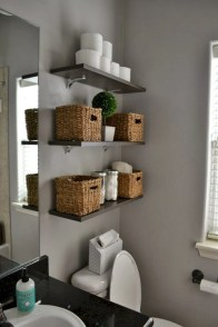 Creative storage bathroom ideas for space saving (19)